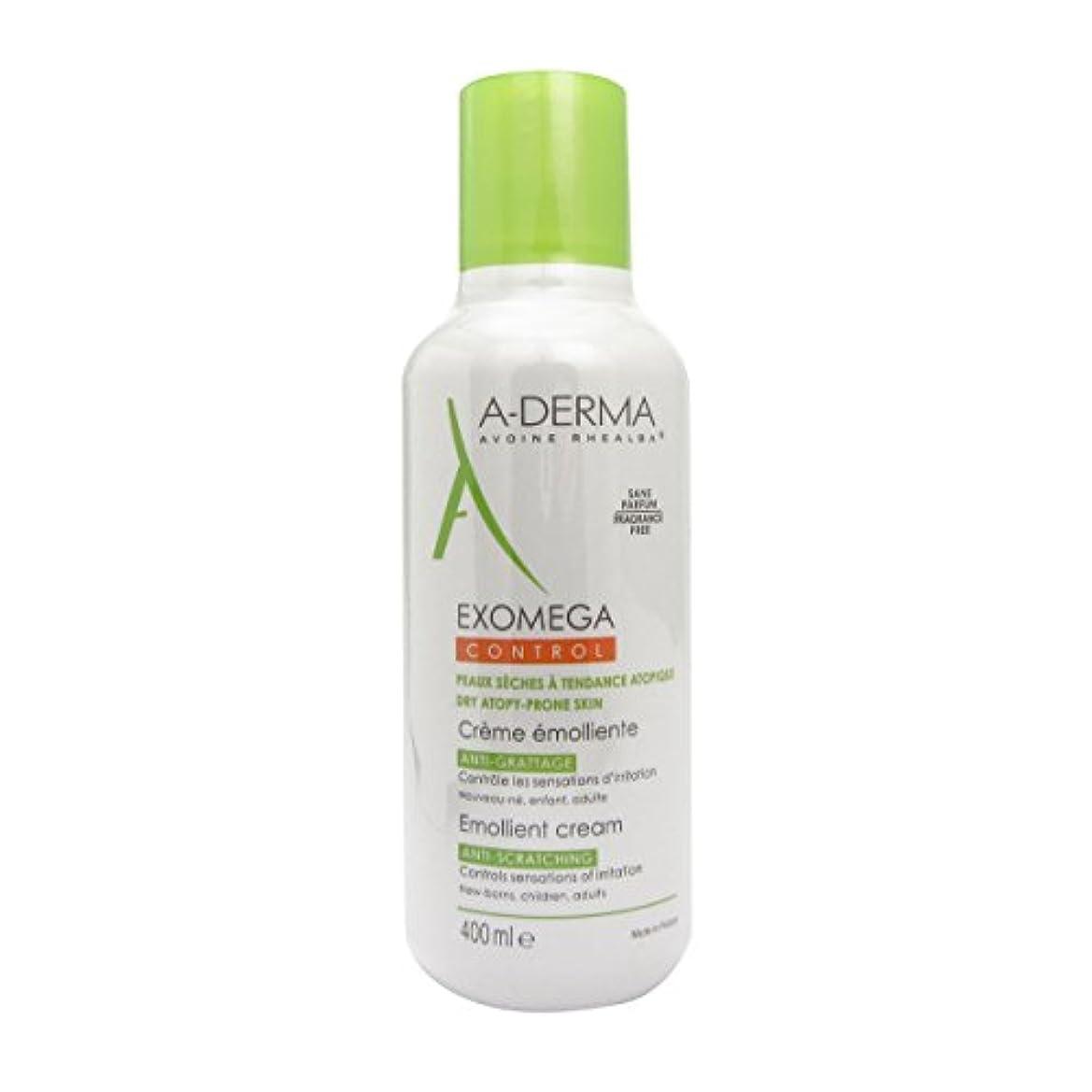 ストライド記述する熟練したA-derma Exomega Control Emollient Cream 400ml [並行輸入品]