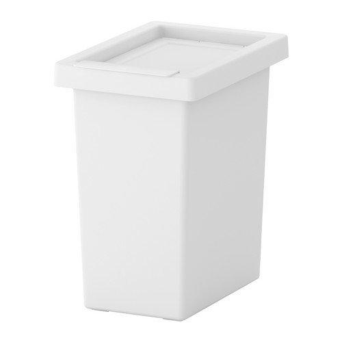 RoomClip商品情報 - ふた付きゴミ箱 分別ゴミ箱 資源ごみ 収納 ホワイト 白 10L [並行輸入品]