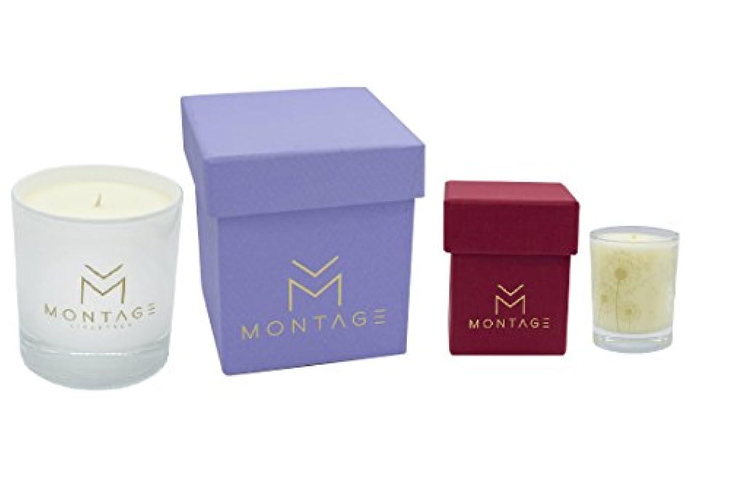 階下地球調整Soy Wax Candle Set in Gift box- Serenityギフトset-アロマセラピーキャンドルのスリープ+ Aphrodisiac with 100 % Pure Essential oils-ハンドメイド...