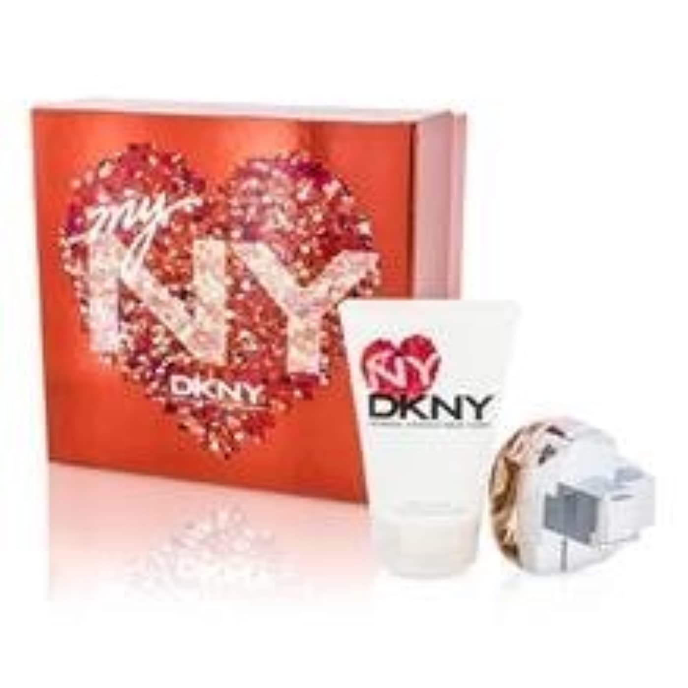 余暇シーズンロシアDKNY My NY The Heart Of The City Coffret: Eau De Parfum Spray 50ml/1.7oz + Body Lotion 100ml/3.4oz 2pcs並行輸入品