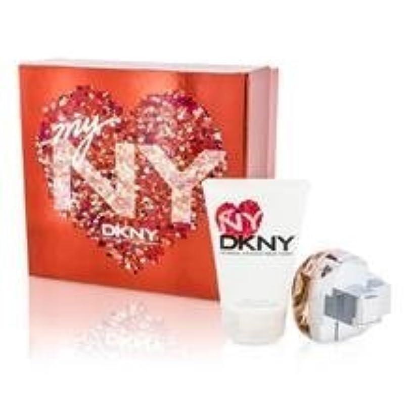 メンタル光の寂しいDKNY My NY The Heart Of The City Coffret: Eau De Parfum Spray 50ml/1.7oz + Body Lotion 100ml/3.4oz 2pcs並行輸入品