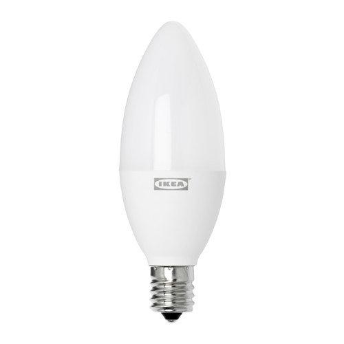 TRADFRI トロードフリ LED電球 E17 400ルーメン, ワイヤレス調光 電球色 温白色, シャンデリア オパールホワイト 303.652.63