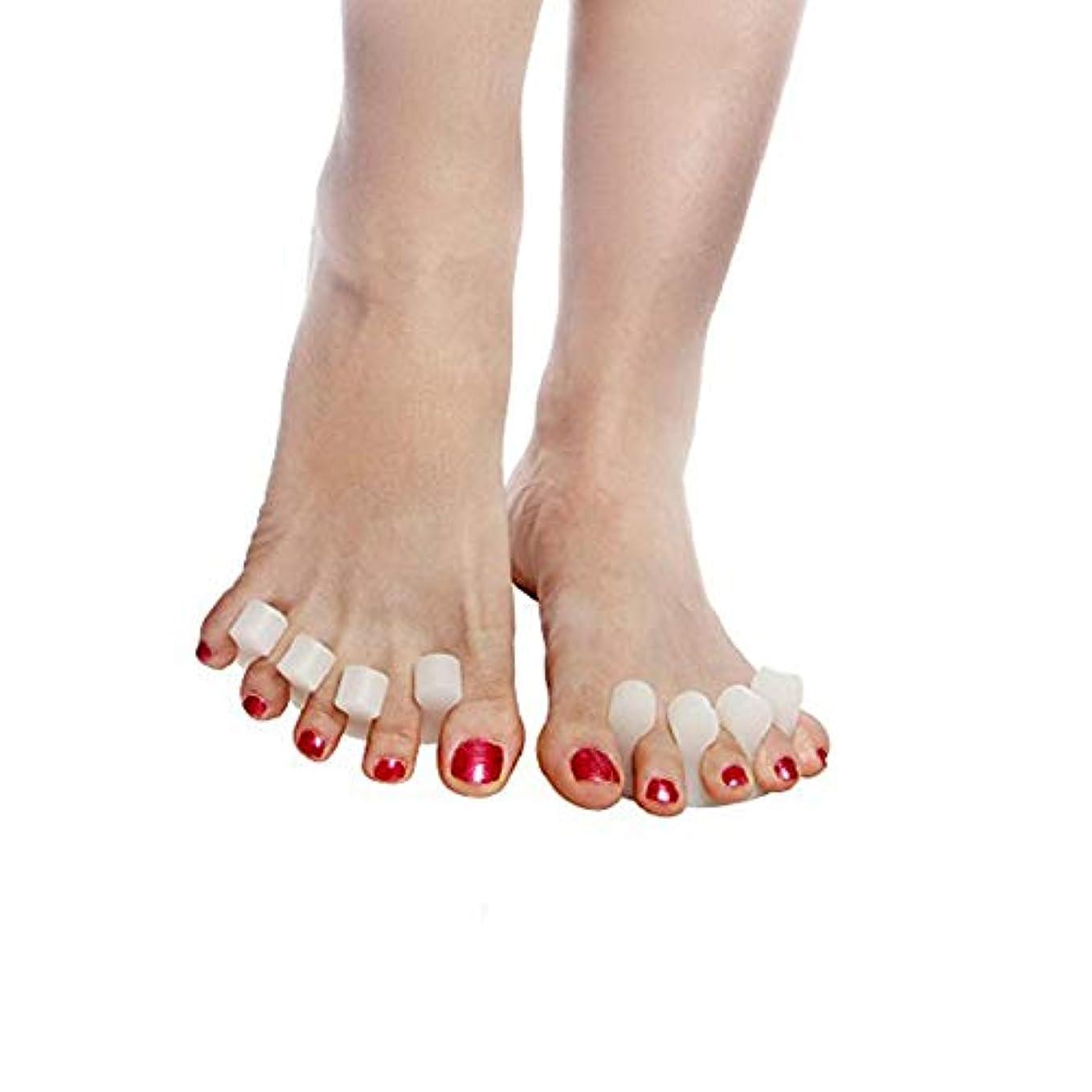 Beito 足指セパレーター,足指広げる 指間ジェルサポーター ネイル ペディキュア用 外反母趾パッド 内反小趾 手指足指全開両用 分離シリコンパッド ヨガ マニキュア用 4個セット
