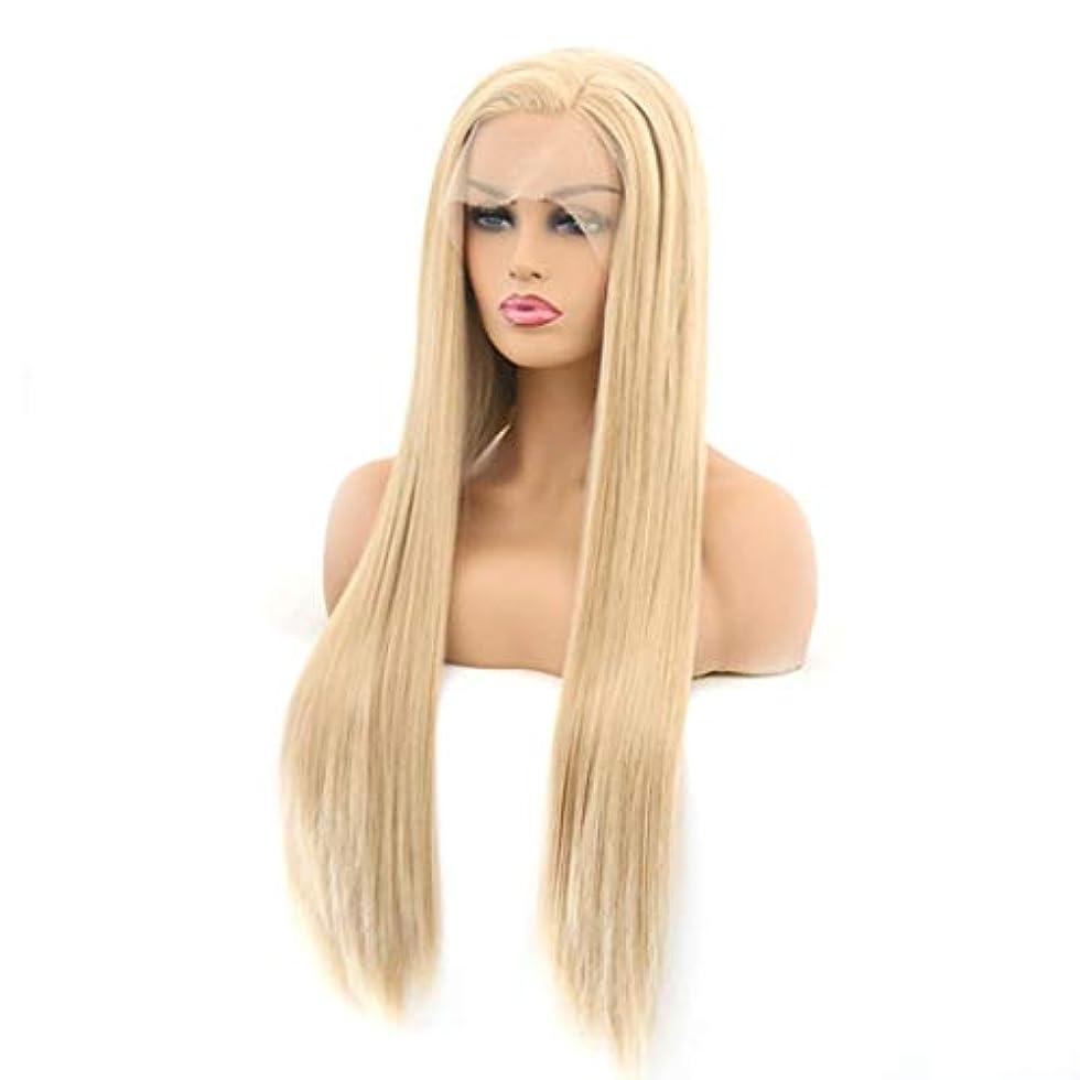 苛性かなりの同意Kerwinner レースフロントかつらサイド部分ロングナチュラルストレート耐熱人工毛の交換用かつら女性用ハーフハンド