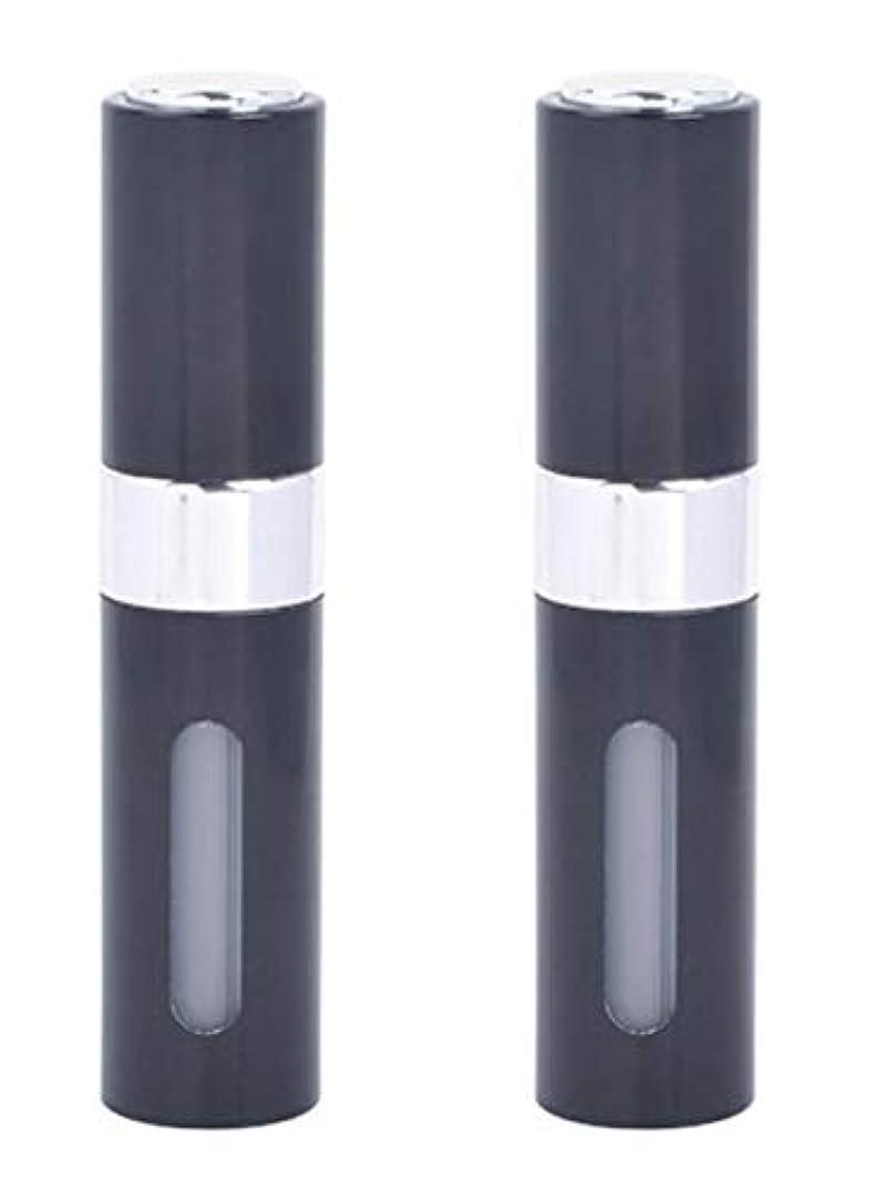 男らしいまあ触覚アクアミー ワンタッチ 補充 アトマイザー クイック 詰め替え 携帯 香水 スプレー 8ml (2個組, ブラック)