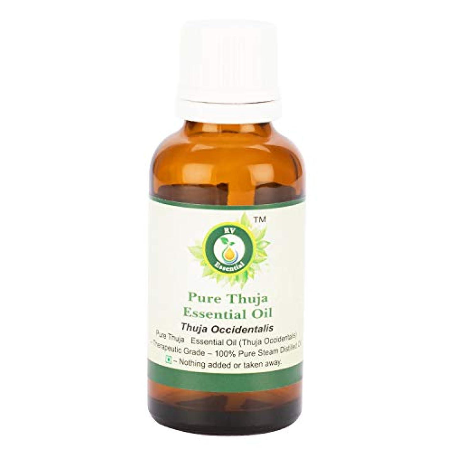 コントラスト生物学羊飼いピュアThujaエッセンシャルオイル300ml (10oz)- Thuja Occidentalis (100%純粋&天然スチームDistilled) Pure Thuja Essential Oil