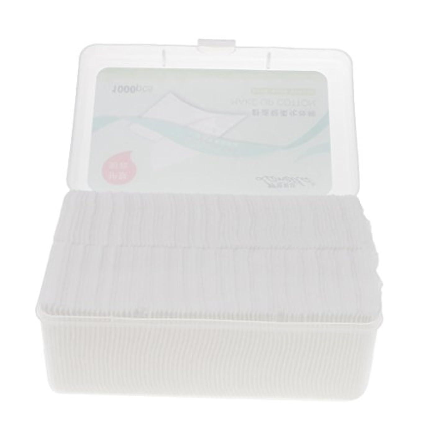 人気のリブ日没Toygogo メイクリムーバー 化粧品パフ コットンパッド 綿パッド ソフト 旅行用品 携帯便利 約1000枚入り