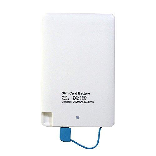 モバイルバッテリー スマホバッテリー 薄型 軽量 MSE-BC01 厚さ6mmの超薄型 MicroUSB と Lightning の両対応 Android、iPhone5、iPhone6、新iPad等対応 バッテリー容量は充電池スマホ約1回分 約60g Elut(エルト)