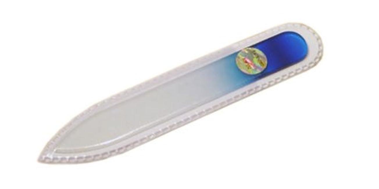 銀並外れて里親ブラジェク ガラス爪やすり 90mm 両面タイプ(ブルーグラデーション #02)