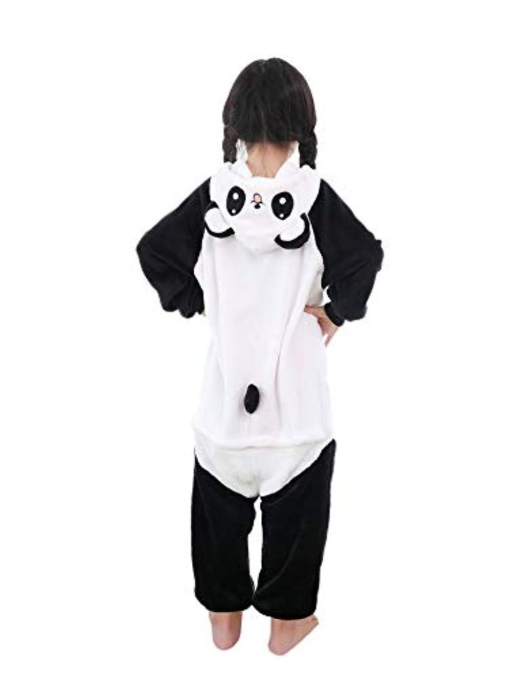 発表する援助する遠洋の子供用 パンダ着ぐるみ パンダパジャマ 動物 パジャマ コスプレ コスチューム 部屋着 男女兼用 (120CM)