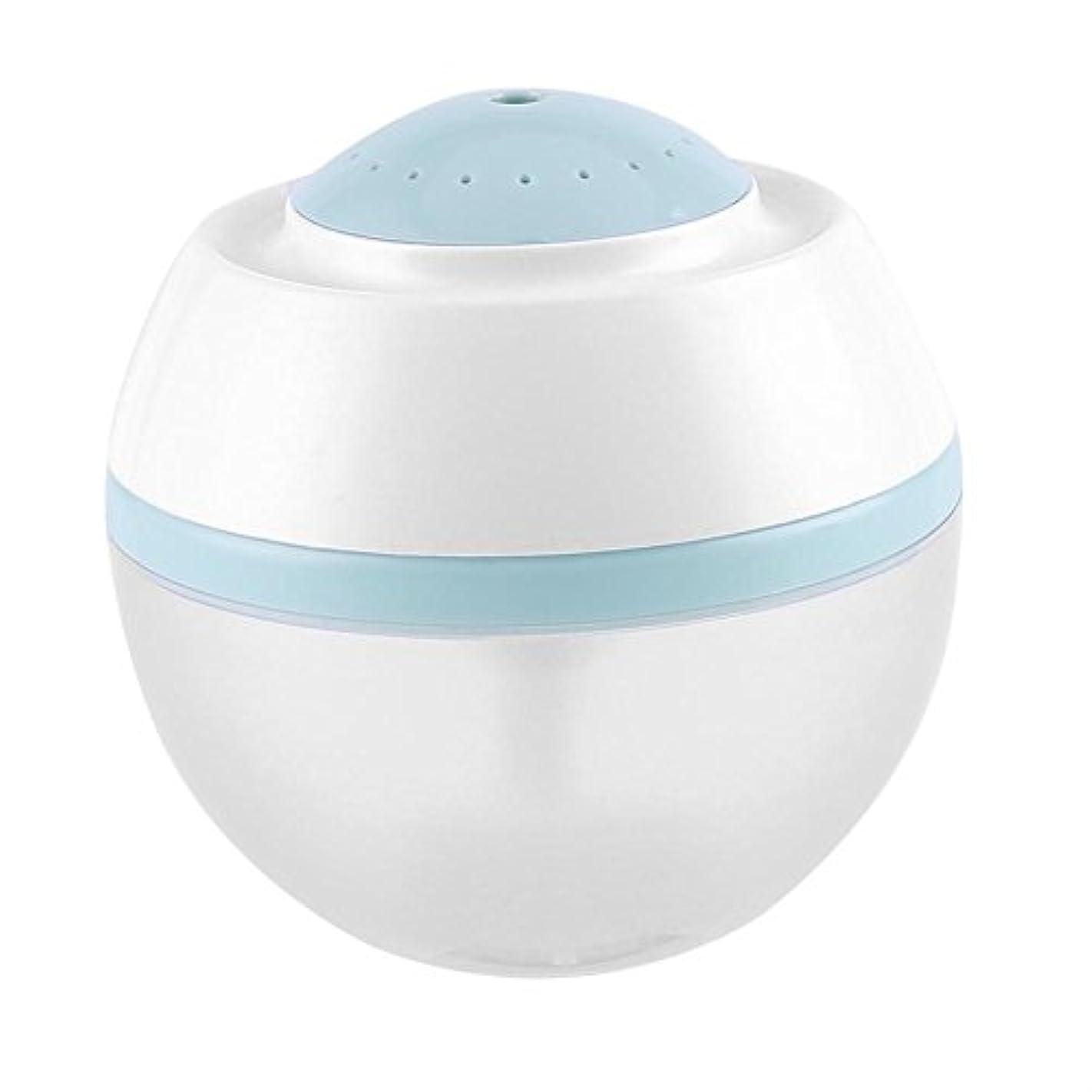 コショウ行く亜熱帯超音波クールミスト加湿器、500ml空気清浄器気化器ディフューザー7色LED付きプレミアム加湿ユニット(青)
