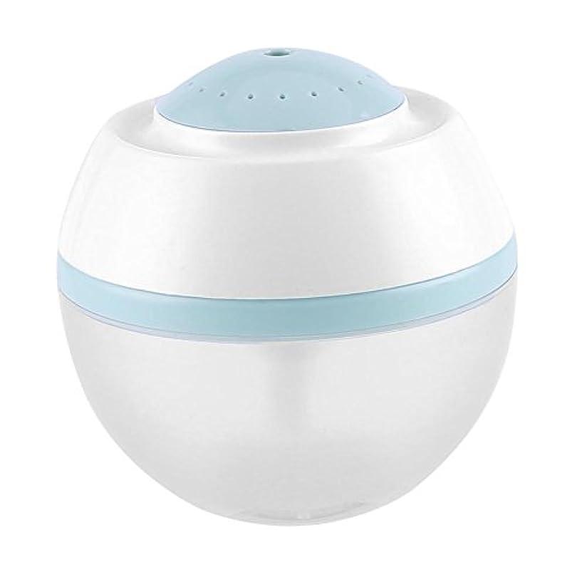 配管政令大脳超音波クールミスト加湿器、500ml空気清浄器気化器ディフューザー7色LED付きプレミアム加湿ユニット(青)