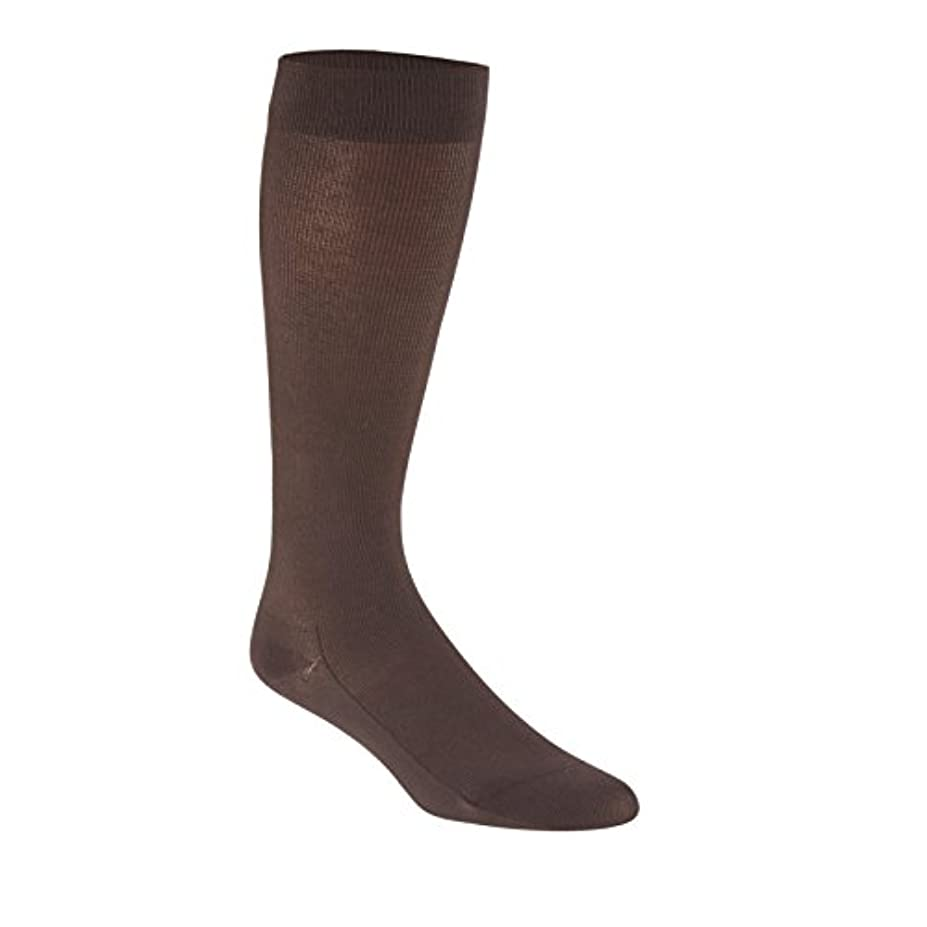 家事をするお祝い引数Sigvaris Sea Island Cotton 191CB11 15-20mmHg Mens Closed Toe, Calf Socks - Brown, Size B