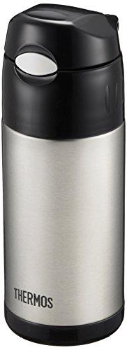 サーモス 水筒 真空断熱ストローボトル 【ワンタッチオープンタイプ】 0.36L ステンレスブラック FFI-401 SBK