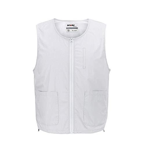DEWBU 空調 服 作業着 釣り服 冷却服 クーラー服 熱中症対策 ベスト(グレーベスト服のみ,XL)