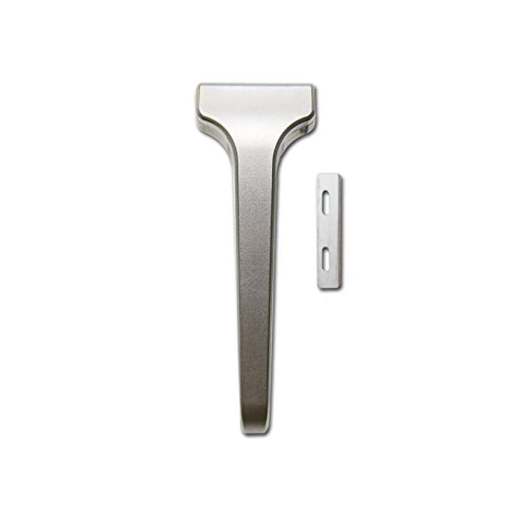 口どうやってランドマークSUPPLY The Single Edge 2.0 片刃カミソリ 剃刀 インジェクター刃互換 (クラシックマット, 本体+替刃 20枚付)