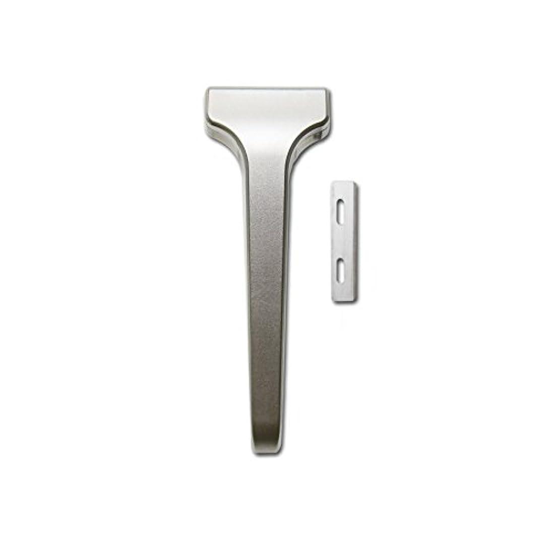 拡大する省略腕SUPPLY The Single Edge 2.0 片刃カミソリ 剃刀 インジェクター刃互換 (クラシックマット, 本体+替刃 20枚付)