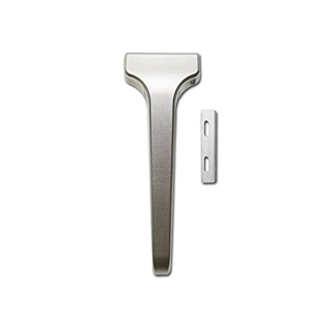 認める公平効能あるSUPPLY The Single Edge 2.0 片刃カミソリ 剃刀 インジェクター刃互換 (クラシックマット, 本体+替刃 20枚付)