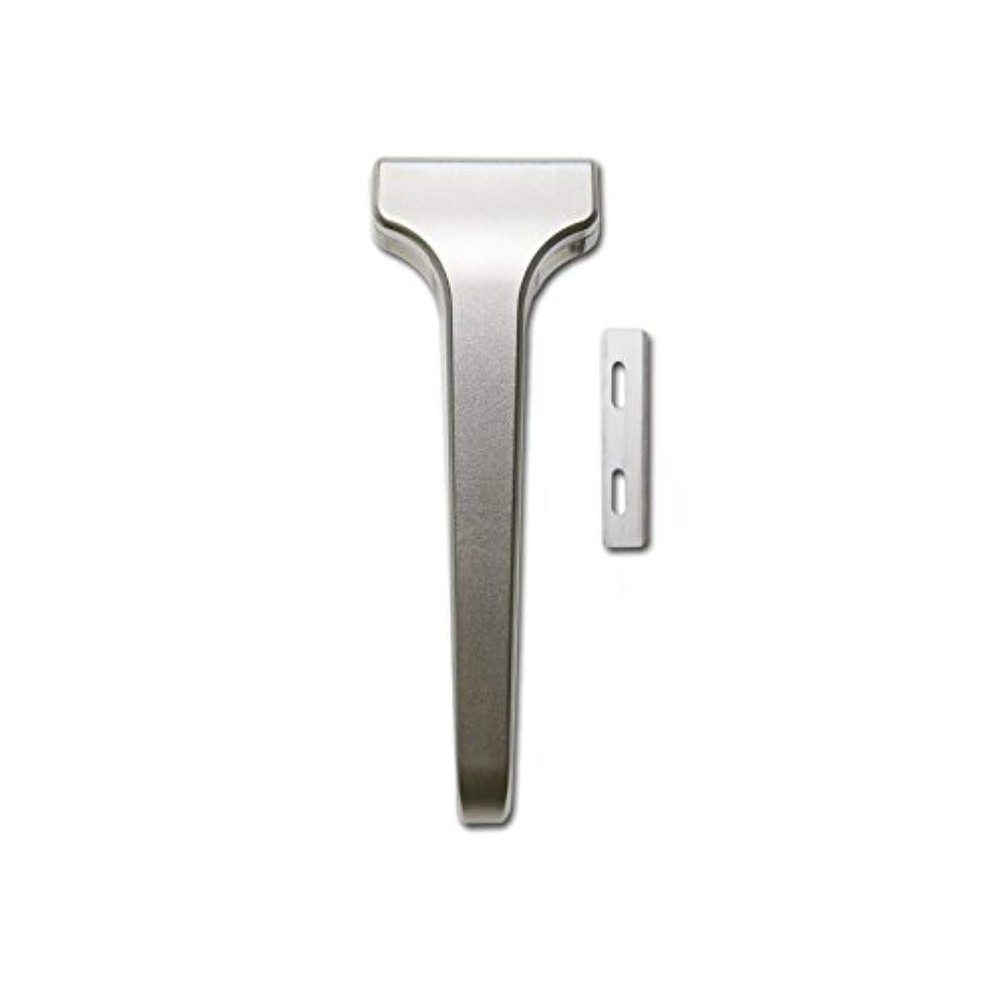 エキスパートフェンスバックアップSUPPLY The Single Edge 2.0 片刃カミソリ 剃刀 インジェクター刃互換 本体+替刃 20枚付