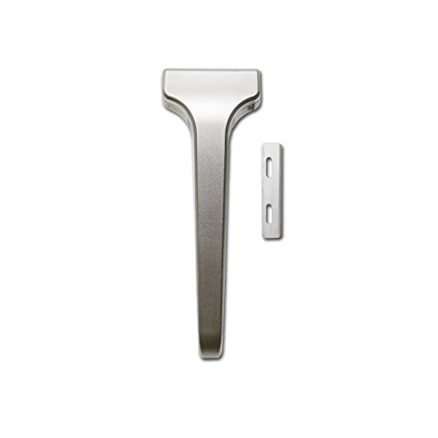 広く素朴なブラストSUPPLY The Single Edge 2.0 片刃カミソリ 剃刀 インジェクター刃互換 本体+替刃 20枚付