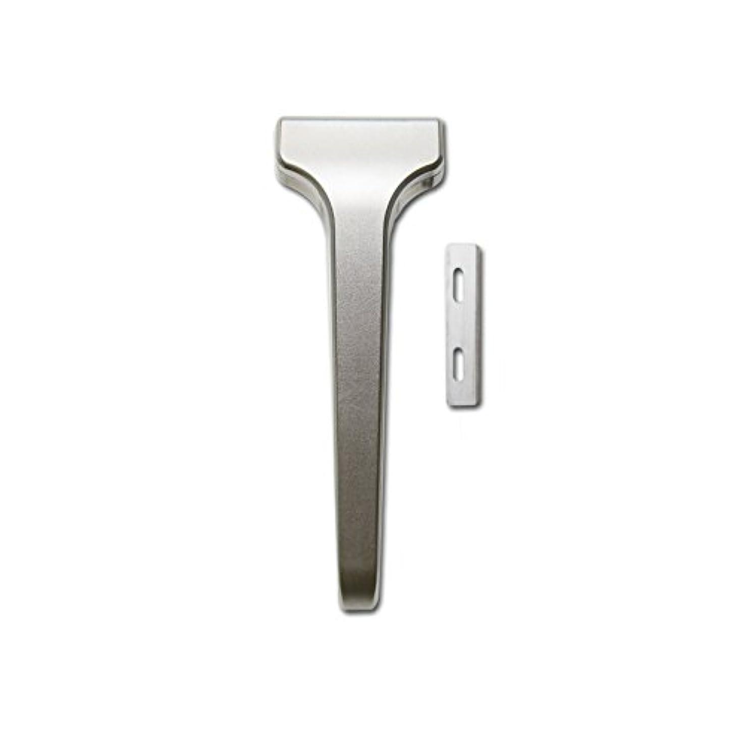 ジャーナルドック満了SUPPLY The Single Edge 2.0 片刃カミソリ 剃刀 インジェクター刃互換 (クラシックマット, 本体+替刃 20枚付)