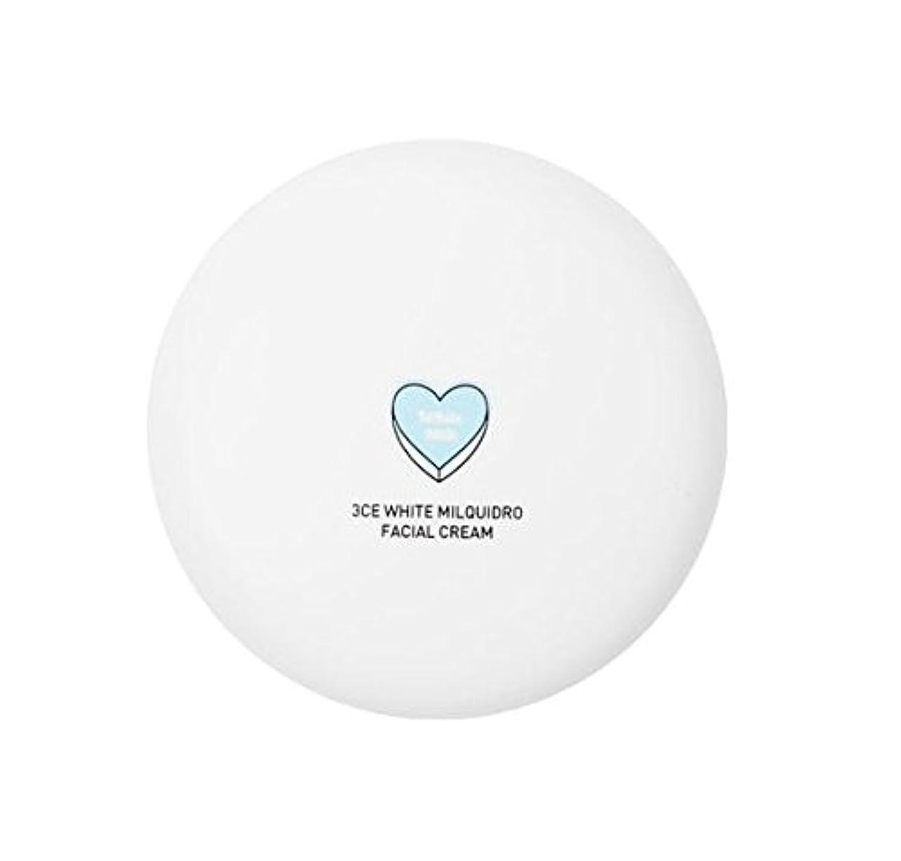 フォーラム掃くマインドフル3CE WHITE MILQUIDRO FACIAL CREAM 50ml / 3CE ホワイトミルクウィドローフェイシャルクリーム [並行輸入品]