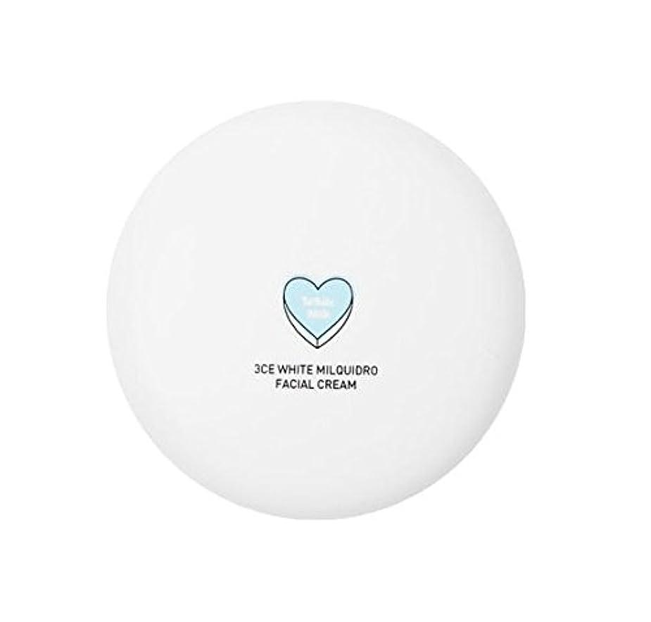 スクラップブックリンケージガチョウ3CE WHITE MILQUIDRO FACIAL CREAM 50ml / 3CE ホワイトミルクウィドローフェイシャルクリーム [並行輸入品]