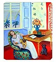 Caroline's Treasures Mouse/Hot Pad/Trivet Lady with Her Pug (7166MP) [並行輸入品]