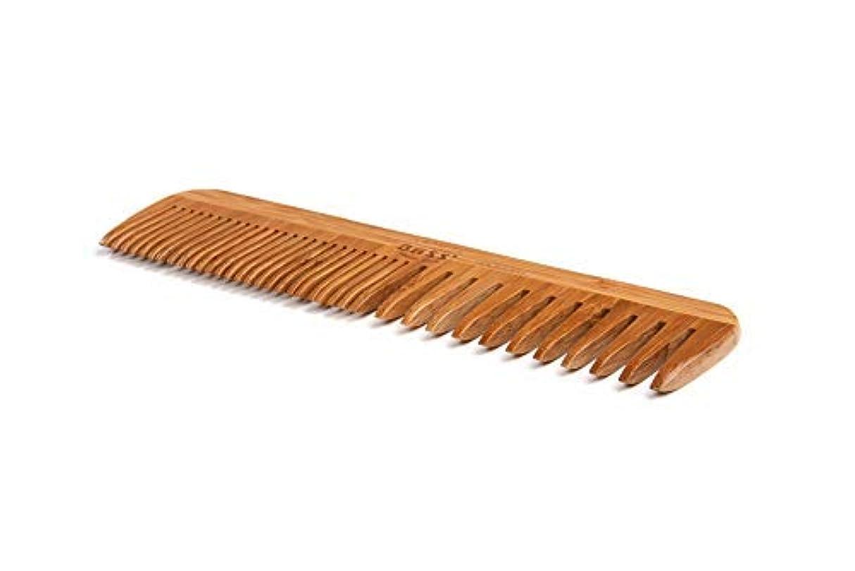 宿泊楽観ドナウ川Bass Brushes | Grooming Comb | Premium Bamboo Teeth and Handle | Wide Tooth/Fine Tooth Combination | Dark Finish...