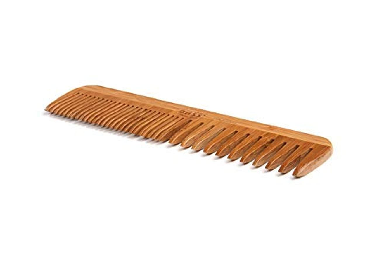 Bass Brushes | Grooming Comb | Premium Bamboo Teeth and Handle | Wide Tooth/Fine Tooth Combination | Dark Finish...
