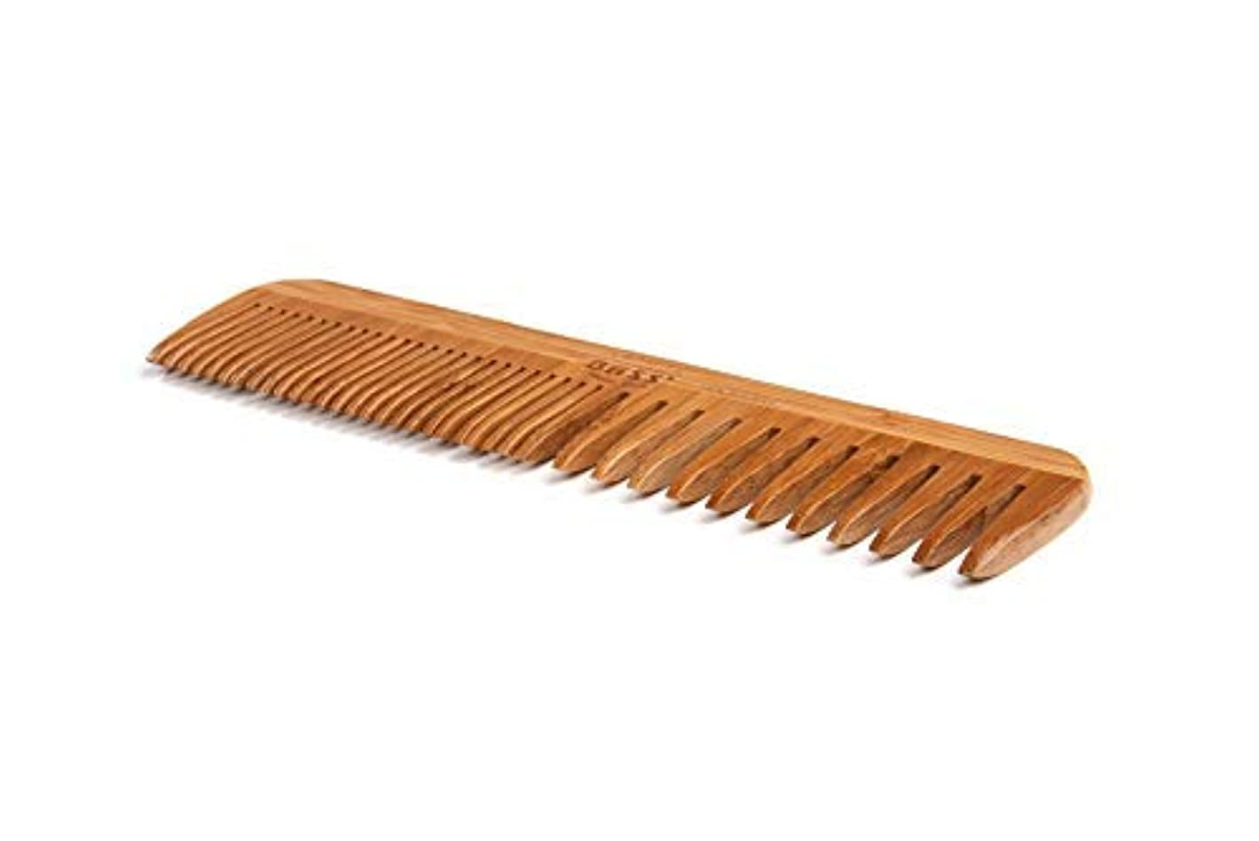 Bass Brushes   Grooming Comb   Premium Bamboo Teeth and Handle   Wide Tooth/Fine Tooth Combination   Dark Finish...