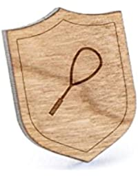 スカッシュラケットラペルピン、木製ピンとタイタック|素朴な、ミニマルGroomsmenギフト、ウェディングアクセサリー