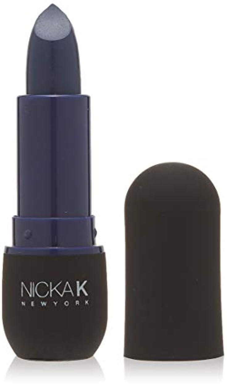 回転する固執補足NICKA K Vivid Matte Lipstick - NMS08 Indigo (並行輸入品)
