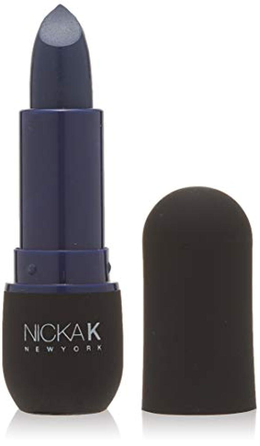 十一抵抗材料NICKA K Vivid Matte Lipstick - NMS08 Indigo (並行輸入品)