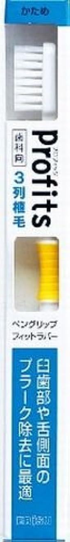 見捨てられた肘涙BK-30Hプロフィツ3列ハブラシ 硬め(J)×240点セット (4901221065303)