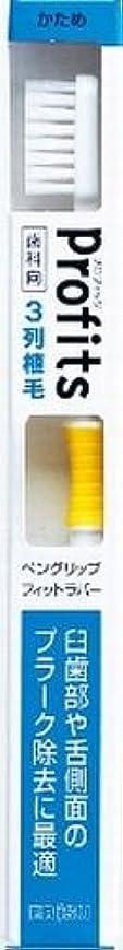出席する原点事実上BK-30Hプロフィツ3列ハブラシ 硬め(J)×240点セット (4901221065303)