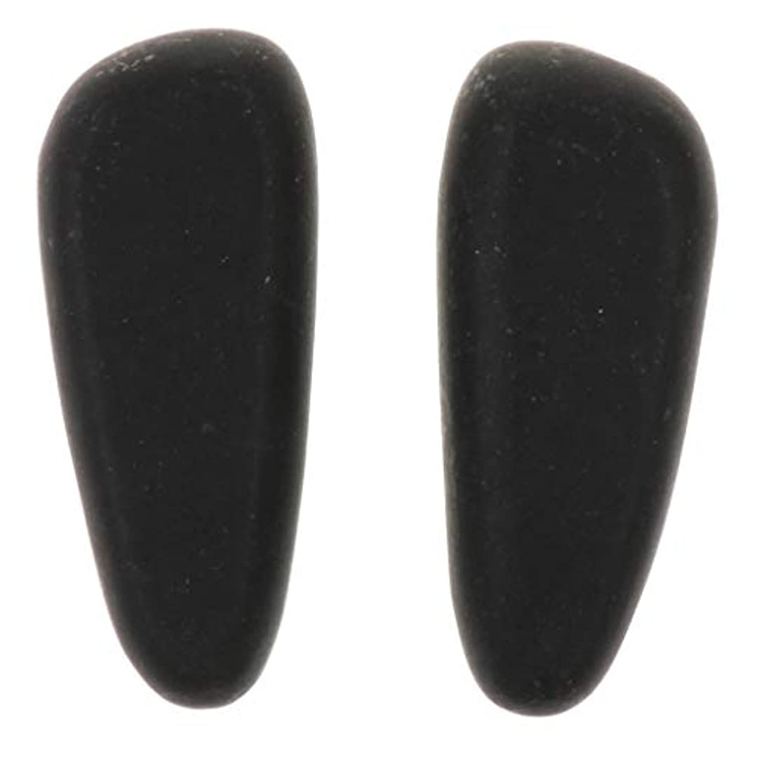 SM SunniMix 天然石ホットストーン マッサージ用玄武岩 マッサージストーン マッサージ石 ボディマッサージ 2個 全2サイズ - 8×3.2×2cm