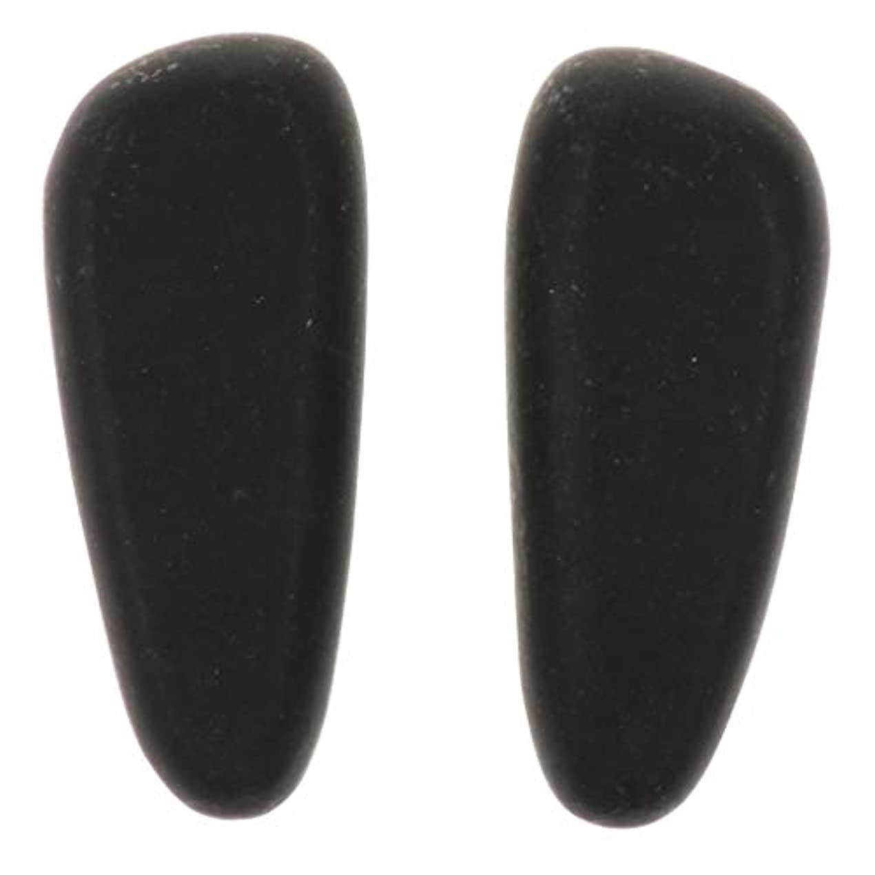 オンス章光沢SM SunniMix 天然石ホットストーン マッサージ用玄武岩 マッサージストーン マッサージ石 ボディマッサージ 2個 全2サイズ - 8×3.2×2cm
