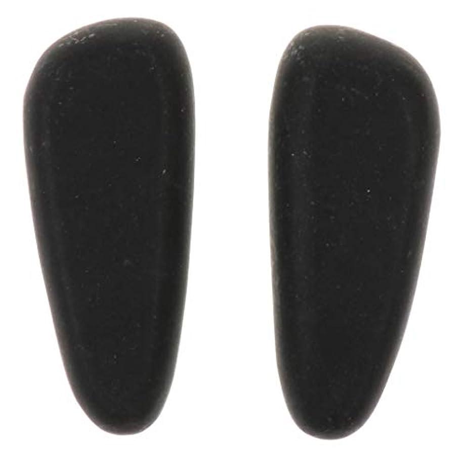 大砲祈るむしろ天然石ホットストーン マッサージ用玄武岩 マッサージストーン マッサージ石 ボディマッサージ 2個 全2サイズ - 8×3.2×2cm
