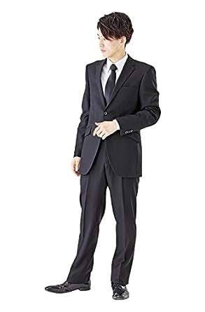 (モノワール) MONOIR 喪服 メンズ 礼服 大きいサイズ シングル ブラックフォーマル スーツ オールシーズン ウール アジャスターあり 1907 A体 3号 ブラック