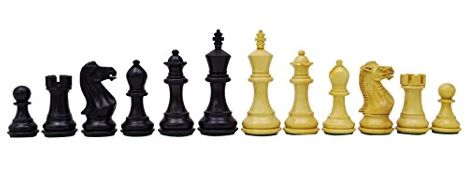 Chessmate Hand Crafted Staunton Boxwood 32 Chessmen Pieces Chess Game King's Height 83 mm Gift For Men
