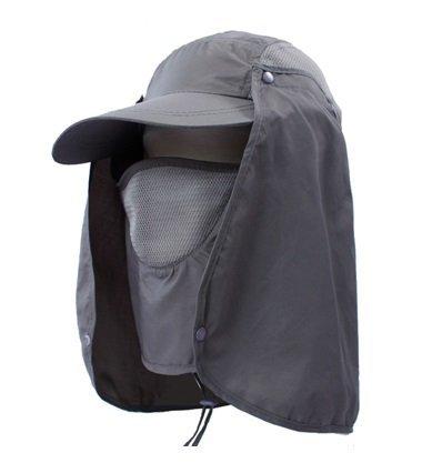 【simPLEISURE(シンプレジャー)】 全9色 UVカット帽子 首まですべてをガード 炎天下での紫外線・熱中症対策に 着こなし4パターン セパレート式 グレー qa100200a04b