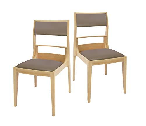 LABOT 【BAG-IN CHAIR】Basicタイプ 荷物が入る椅子 ナチュラル スタッキング可 木製 椅子 チェア BCB-NA 2脚入