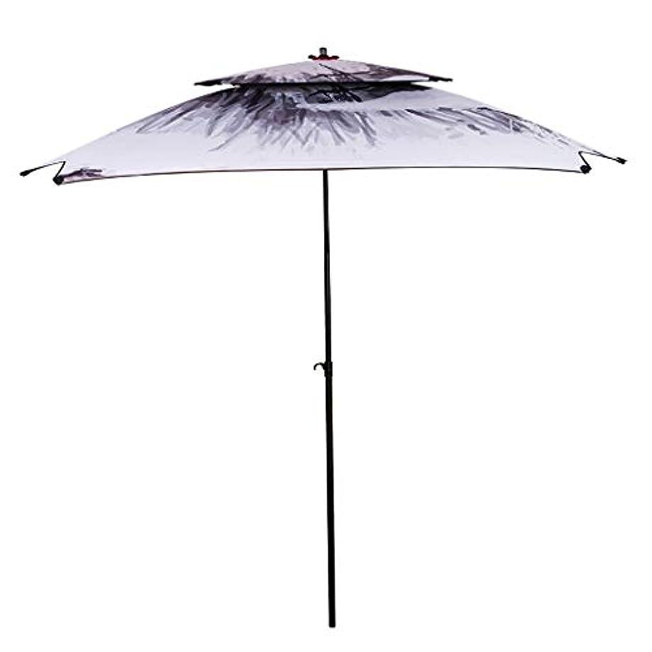 焦がす行き当たりばったりくつろぎ太陽傘金属オックスフォード回転日焼け止め雨折りたたみ傘屋外サンシェード傘 (サイズ さいず : H2.4m)