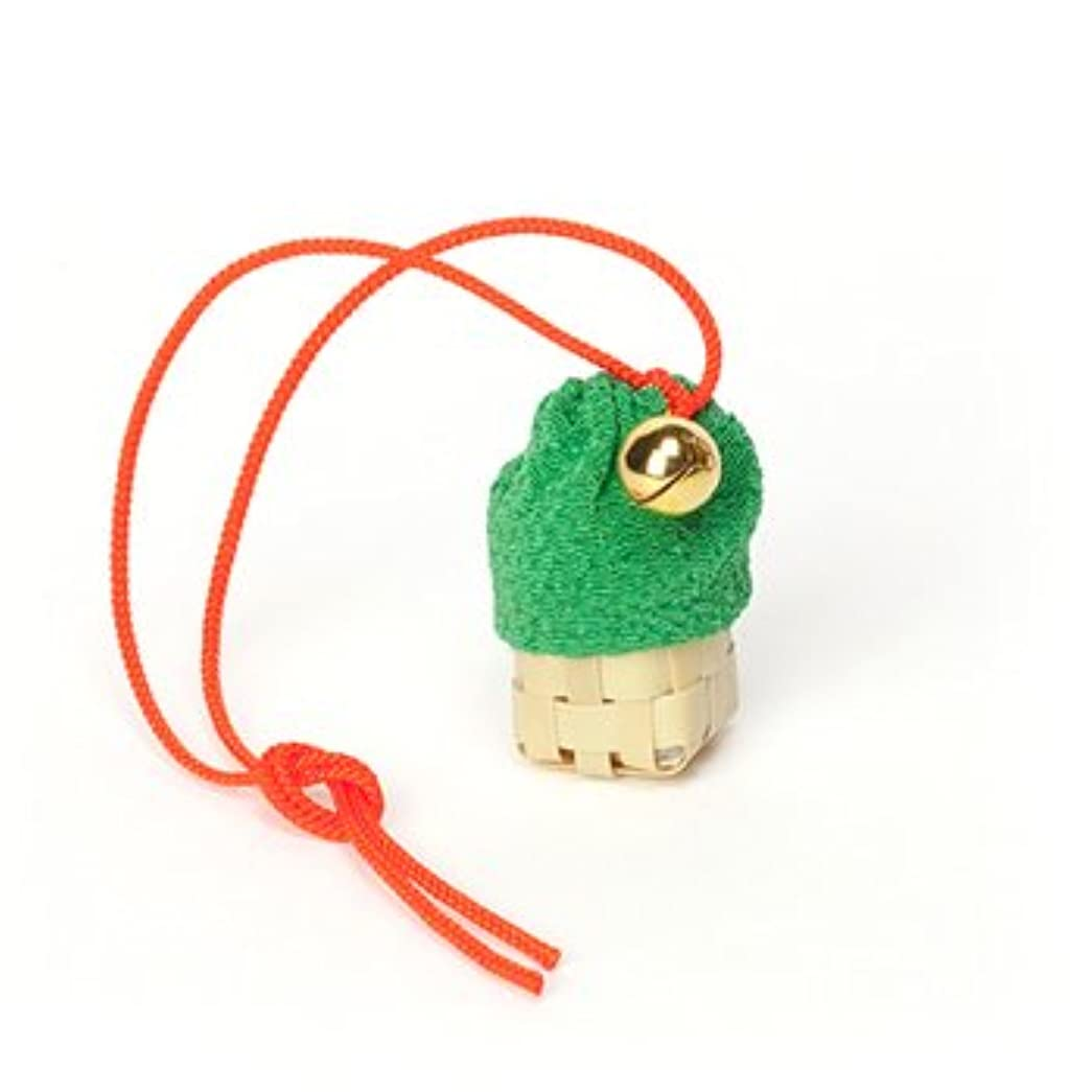綺麗なメンタリティパッド松栄堂 匂い袋 携帯用 ミニ籠 1個入 ケースなし (色をお選びください) (緑)