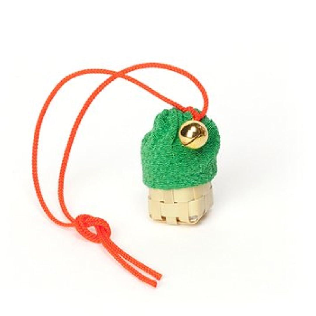 返還サスペンド軽蔑松栄堂 匂い袋 携帯用 ミニ籠 1個入 ケースなし (色をお選びください) (緑)