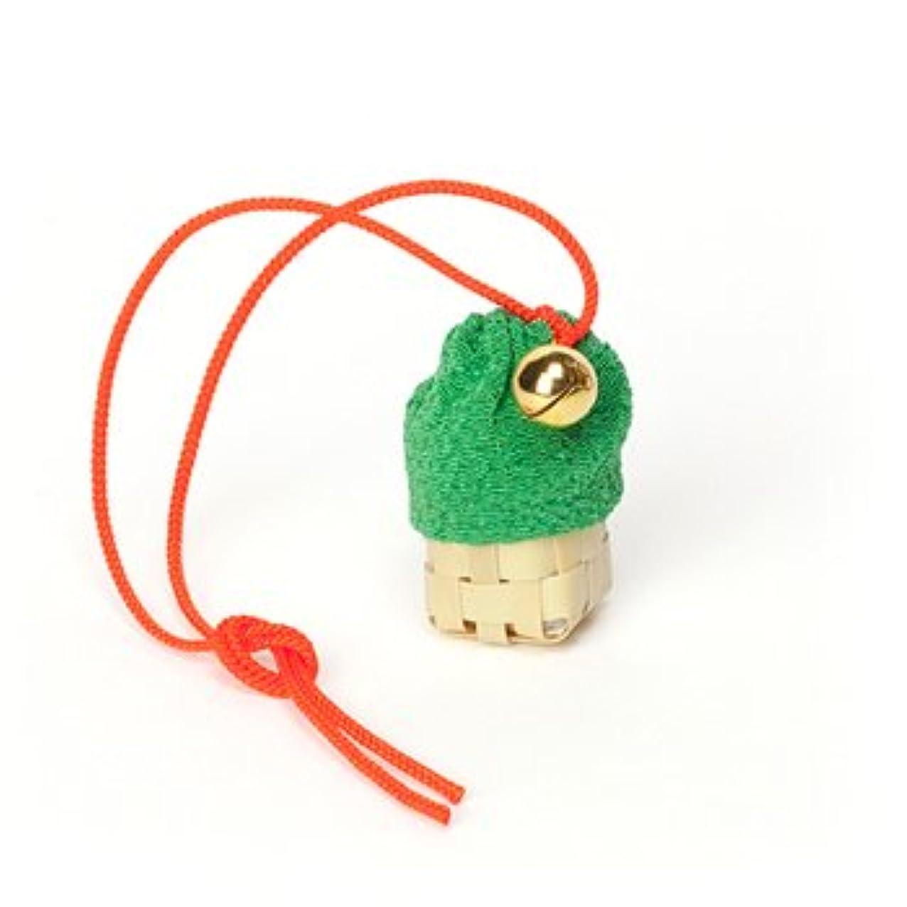 不名誉な夜の動物園かる松栄堂 匂い袋 携帯用 ミニ籠 1個入 ケースなし (色をお選びください) (緑)