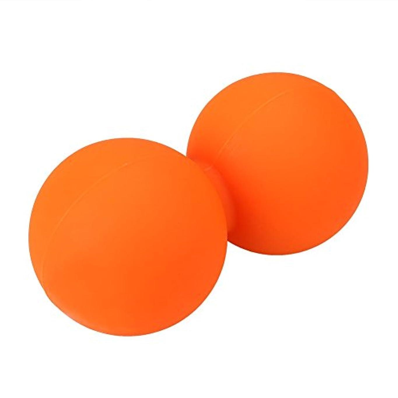 拡声器変更可能常習的attachmenttou スパイクマッサージボールダブルラクロス 筋筋膜トリガーリリースピーナッツ マッサージクロスボール 運動