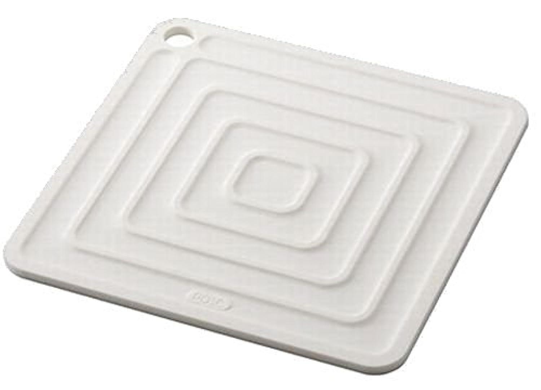 アスベル  シリコン鍋敷き角型  「ポゼ」 ホワイト