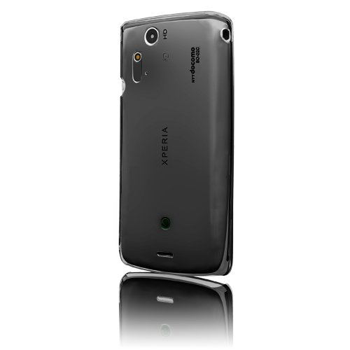MSY Crystal Series Crystal Case for Xperia acro Smoke Black/スモークブラック EPA03-002Bk